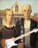 Tee-rrific Tees AMERICAN GOTHIC with Guitars